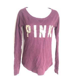 Pink Victorias Secret Thermal Shirt